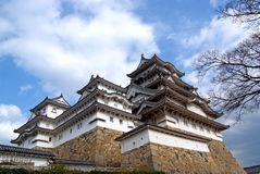 Himeji-PB kasteel Stock Afbeeldingen