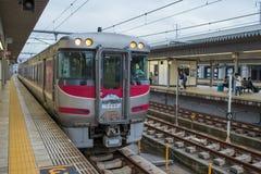 Himeji railway station with cloudy sky. Stock Photos