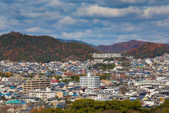 Himeji residence downtown aerial view Stock Photo