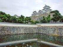 Himeji-Schloss in Japan stockbilder