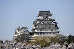 Himeji-Schloss, Japan, ein anderer Winkel Lizenzfreies Stockbild