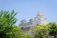 Himeji slott fotografering för bildbyråer