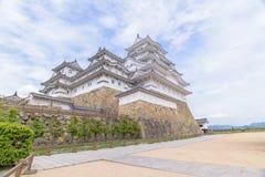 Himeji slott eller vitägretthägerslott Royaltyfria Foton