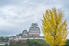 Himeji slott i Japan som kallas också den vita hägerslotten Royaltyfria Foton