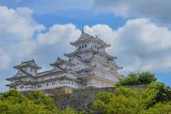 Himeji slott Japan i färg Arkivbild