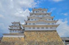 Himeji slott Japan i färg Fotografering för Bildbyråer