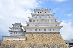Himeji slott Japan i färg Royaltyfri Fotografi