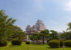 Himeji slott, Japan UNESCOplats och nationell skatt Royaltyfria Foton