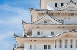 Himeji slott, komplex för slott för a-bergstopp japanskt Arkivbild