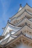 Himeji slott, komplex för slott för a-bergstopp som japanskt lokaliseras i Himeji Arkivfoton
