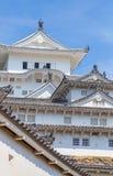 Himeji slott, komplex för slott för a-bergstopp japanskt Arkivbilder