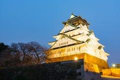 Himeji slott på nattetid Royaltyfri Bild