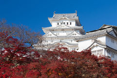 Himeji vit slott, Japan historisk gränsmärke Arkivbild