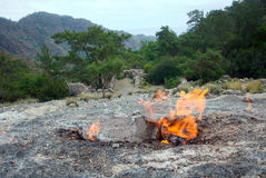 Himera fire, famous place on Lycia way Stock Images