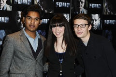 Himesh Patel, Rachel Brite. And Charlie G Hawkins arrives for the Four premiere at the Empire, Leicester Square, London. 10/10/2011 Picture by: Steve Vas / royalty free stock image