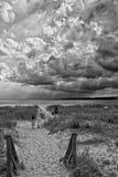 Himla- dag framåt på stranden för min familj Arkivbilder