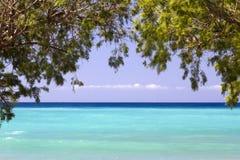 Himla- hav på kusten av Plakias, Rethimno, Kreta, Grekland Arkivbild