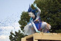 Himla- karusell, gatateaterkapacitet Royaltyfria Bilder