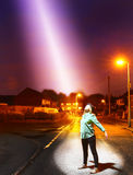 Himla- ljus från över Royaltyfria Foton