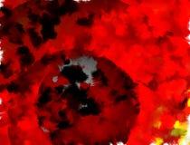 Himlar för röd brand med den mörka planeten stock illustrationer