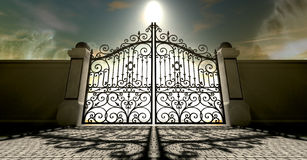Himlar stängde utsmyckade portar vektor illustrationer