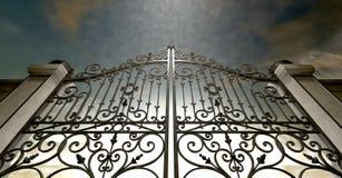 Himlar stängde utsmyckade portar stock illustrationer