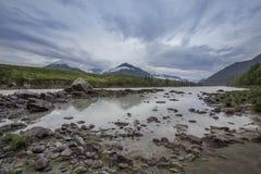 Himlen av de Altai bergen Arkivbilder