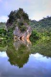 Himlen på Ipoh, Malaysia Arkivbilder