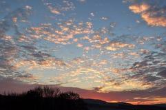 Himlen på solnedgången Royaltyfri Fotografi