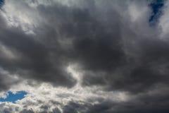 Himlen som täckas med grå färger, skurkroll fördunklar Royaltyfria Foton