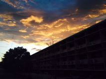 Himlen växte mörk Arkivbilder