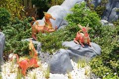 Himmapan animals statue Royalty Free Stock Photos