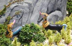 Himmapan animals statue Royalty Free Stock Image