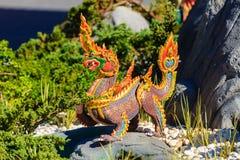 Himmapan creature at Royal Cremation Structure , Bangkok in Thai Royalty Free Stock Images