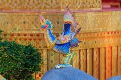 Himmapan varelse på den kungliga kremeringstrukturen, Bangkok i thailändskt Arkivfoto
