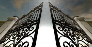Himmel öffnen aufwändige Tore Stockfotografie