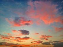 Himmel över havet royaltyfria foton