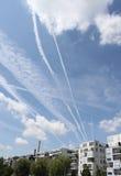 Himmel über Frankfurt Stockbilder