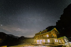 Himmel über Hütte Ray lizenzfreies stockfoto