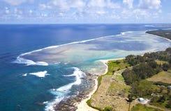 Himmel-Ansicht Mauritius Stockfotos