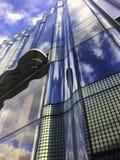 Himmel auf dem Gebäude Stockbilder