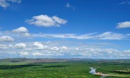 Himmel auf den ein inneren mongolischen Feuchtgebieten lizenzfreie stockfotografie