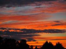 Himmel auf Feuer Stockfotografie