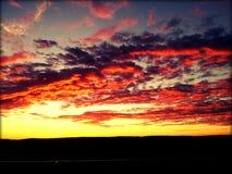 Himmel auf Feuer Lizenzfreies Stockbild