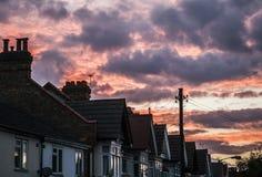 Himmel bei Sonnenuntergang Stockbild