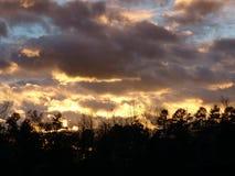 Himmel bei Sonnenuntergang Lizenzfreies Stockbild