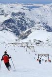 Himmel-Bereiche, Panorama des Hils, Les Deux Alpes, Frankreich, französisch stockbild