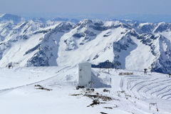 Himmel-Bereiche, Panorama des Hils, Les Deux Alpes, Frankreich, französisch Stockfotografie