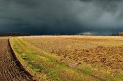 himmel Blitz im Himmel Dunkle Wolken Lizenzfreies Stockbild