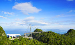 Himmel-Brücke auf Langkawi-Insel Lizenzfreies Stockfoto